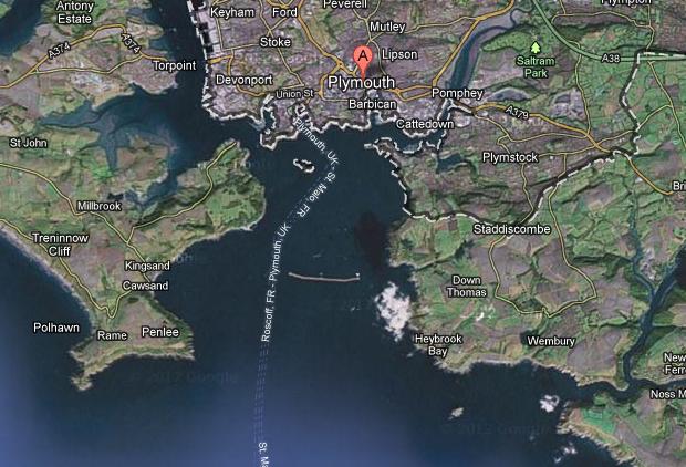 Карта Плимута